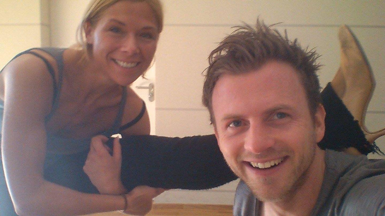 Dehnübungen sind für Tanja Szewczenko kein Problem, doch wird sie auch auf dem Tanzparkett mit Profitänzer Willi Gabalier eine gute Figur abgeben?