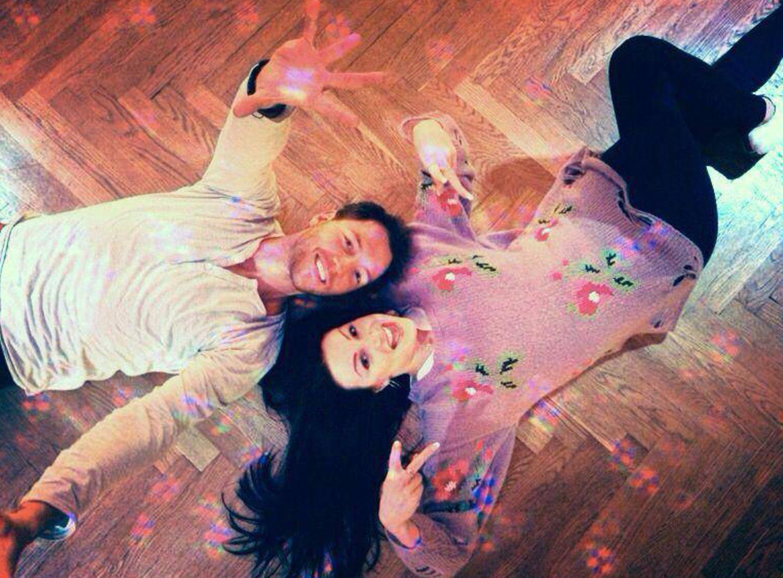 Dirk Moritz und seine Tanzpartnerin Katja Kalugina machen am Anfang des Tanztrainings erst einmal eine Pause.