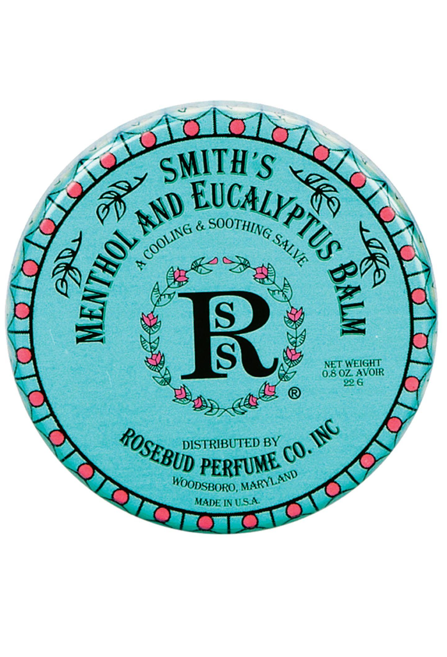 """Pflegt und erfrischt Lippen und Hände: """"Menthol and Eucalyptus Balm"""" von Smith's Rosebud. Ca. 13 Euro, über www.point-rouge.de"""