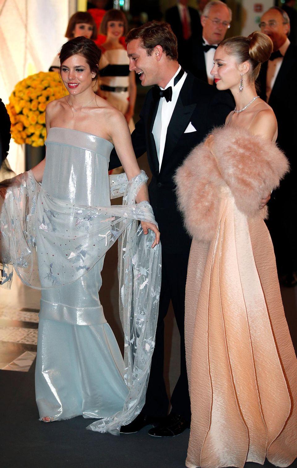 Charlotte und Pierre Casiraghi, die Kinder von Prinzessin Caroline von Hannover, und Pierres Freundin Beatrice Borromeo