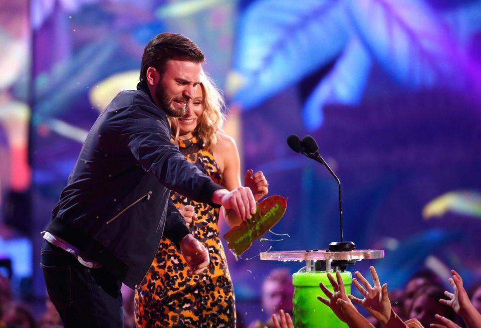 Chris Evans und Kristen Bell