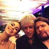 Rea Garvey twittert diesen Backstage-Schnappschuss mit Lena Meyer-Landrut und Bob Geldof.