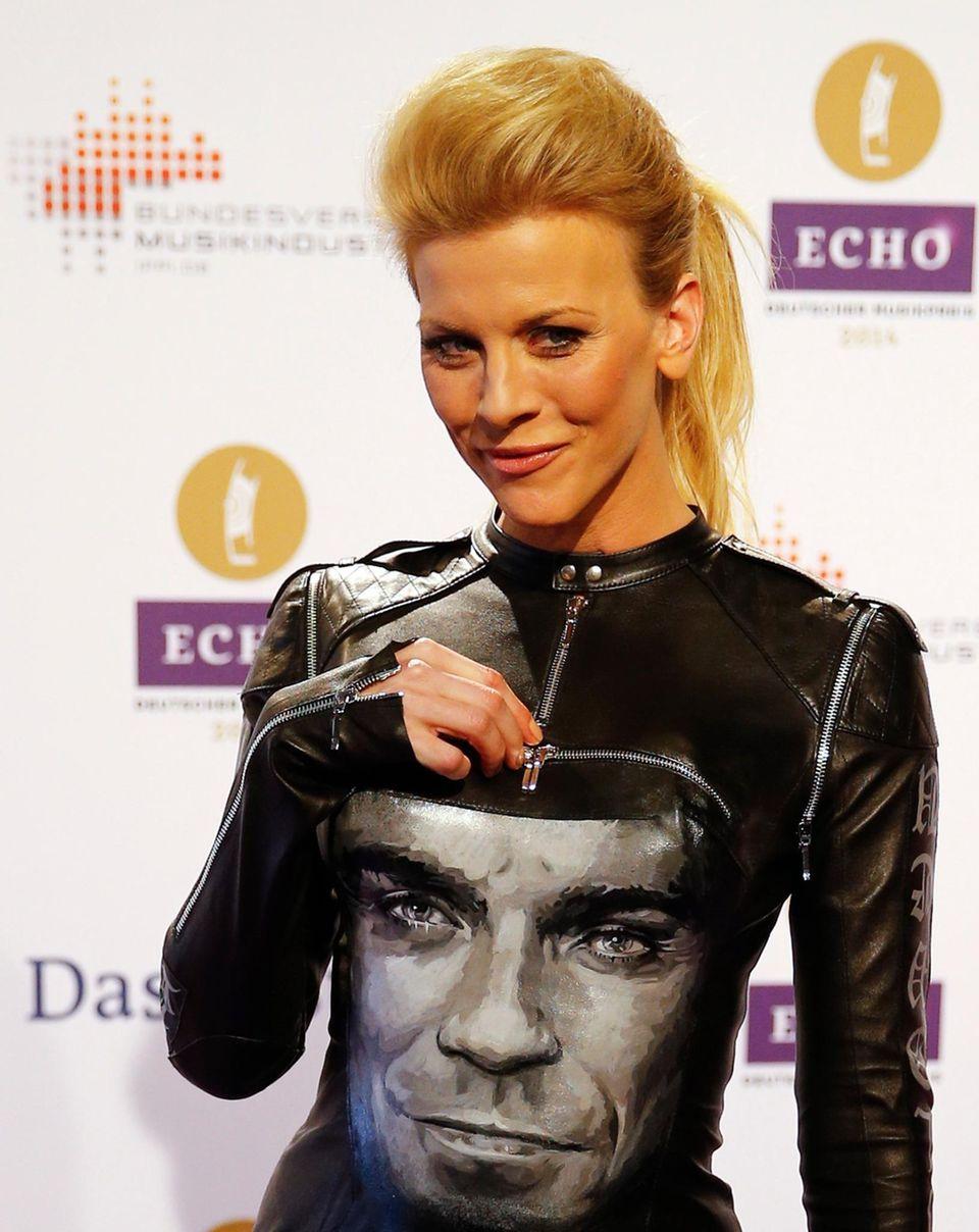 Eva Habermann hat Robbie Williams dabei.