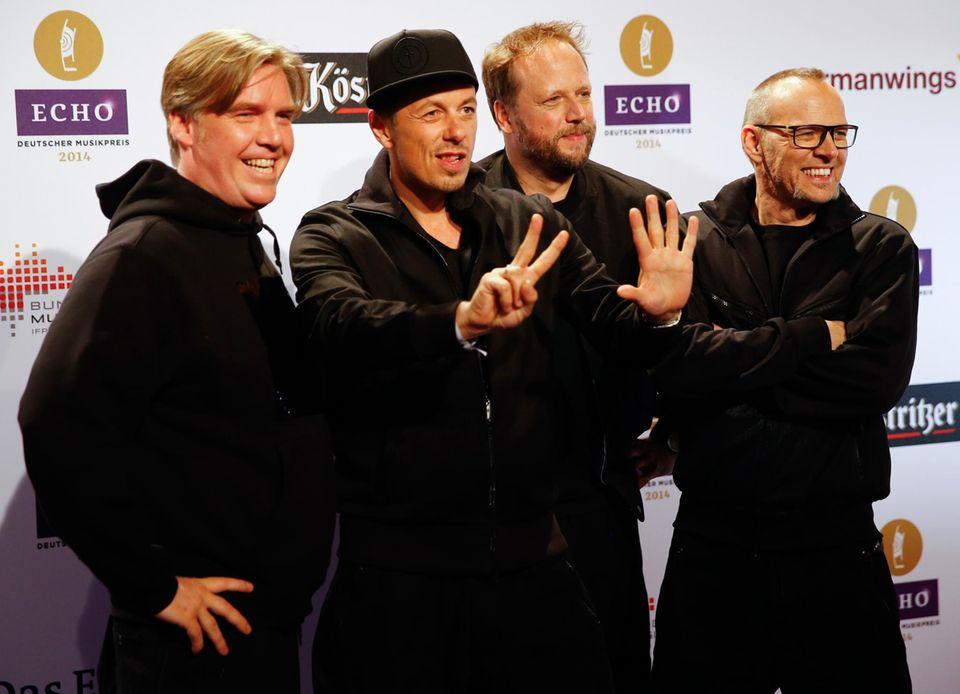 """""""Die fantastischen Vier"""" sind seit Jahren bei der """"Echo""""-Verleihung dabei."""