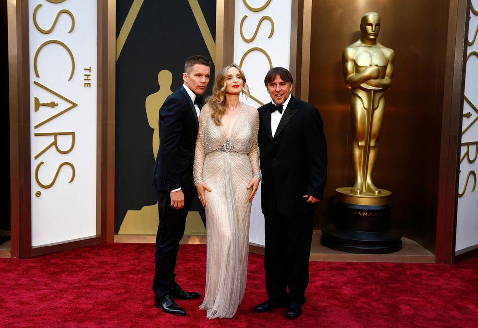 """Ethan Hawke, Julie Delpy und Richard Linklater sind für das Drehbuch von """"Before Midnight"""" nominiert."""
