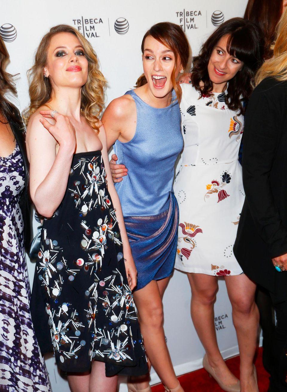 Susanna Fogel, Gillian Jacobs und Leighton Meester haben viel Spaß zusammen.