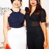 """America Ferrera und Melonie Diaz besuchen die Weltpremiere von """"X/Y""""."""