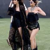 Für die Jenner-Schwestern Kendall und Kylie wird das Festival zum Laufsteg.