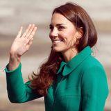 Herzogin Catherine strahlt diesmal in Grün.