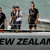 ... genauso wie Herzogin Catherine, die die Yacht ihres Teams führt.