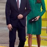 Tag 6  Prinz William und Herzogin Catherine kommen in Hamilton an.