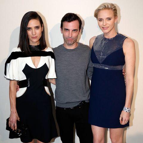 Jennifer Connelly, LV-Designer Nicolas Ghesquière und Fürstin Charlène