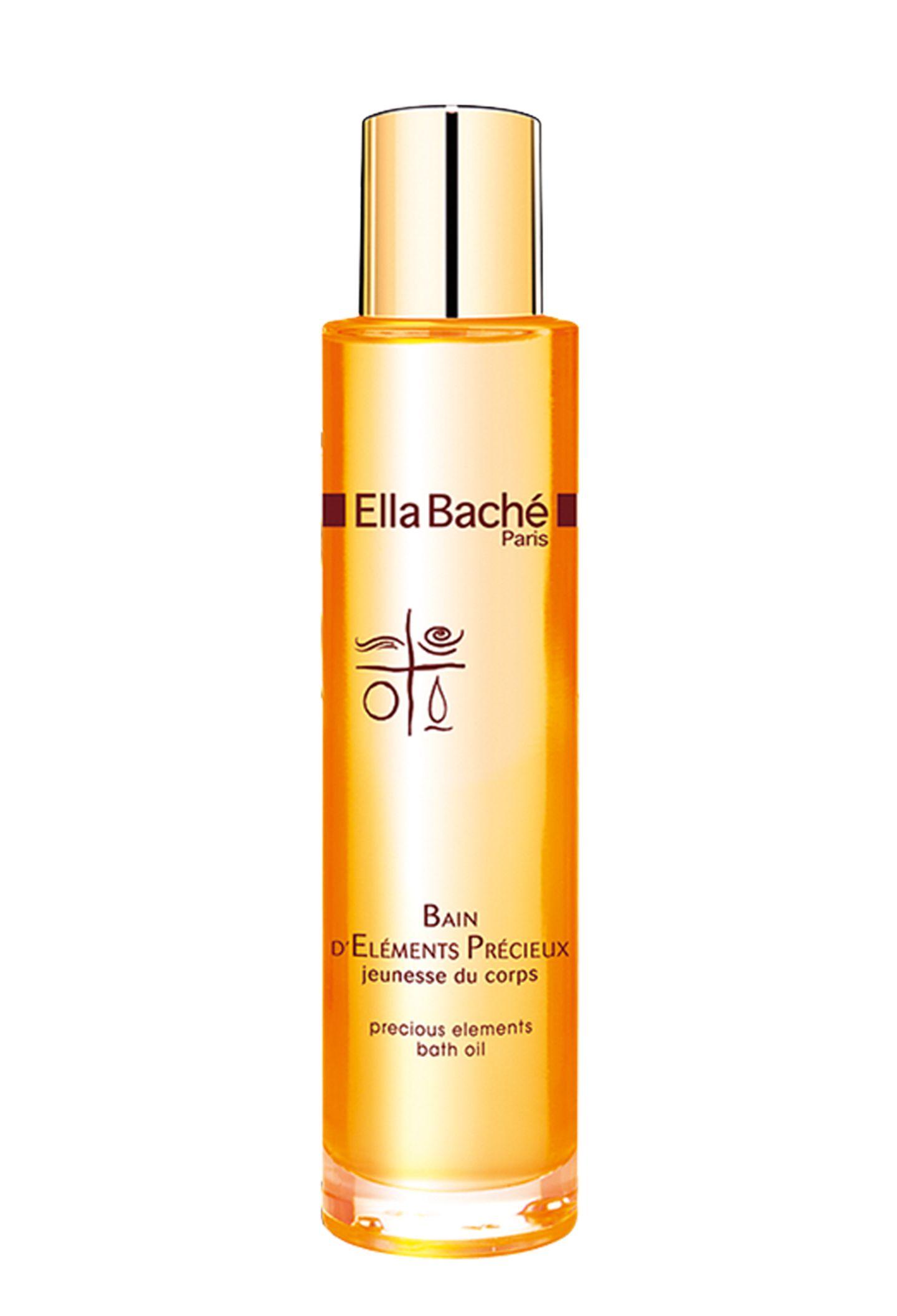 """Betört die Sinne mit Noten aus Myrrhe und Weihrauch: das """"Precious Elements Bath Oil"""". Von Ella Baché, 100 ml, ca. 46 Euro"""