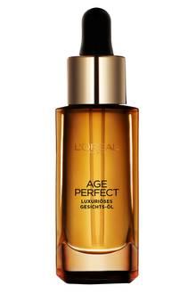 """Im """"Age Perfect Öl Richesse""""-Gesichtsöl stecken acht wertvolle ätherische Öle. Von L'Oréal Paris, 30 ml, ca. 18 Euro"""