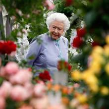 Am Pressetag nimmt Queen Elizabeth alles genau unter die Lupe.