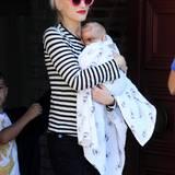 Zum Geburtstag ihres Sohnes Kingston hat Gwen Stefani auch den kleinen Apollo mitgebracht.