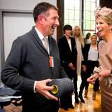 In Essen besucht das Königspaar eine in den Niederlanden gegründete Firma für kreatives Industriedesign.