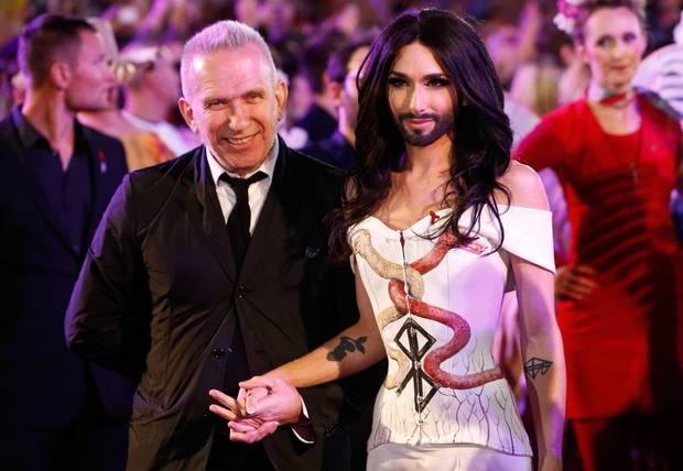 Jean Paul Gaultier und Conchita Wurst