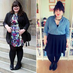 Übergrößen: Auf dollface.de bloggt Alegra Schminke aus Mainz seit 2008 über ihr liebstes Hobby: Mode. Ihre Kleidergröße 44/46 ist für die Lehramtsstudentin jedoch noch lange kein Grund, auf modische Outfits zu verzichten. Mal feminin mit Blumenmuster, mal im grafischen Printkleid oder lässiger Jeans und Bluse kreiert die Kleiderliebhaberin immer neue, individuelle Looks.