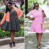 """Übergrößen: Farbenfroh und feminin sind die Outfit-Posts der Amerikanerin CeCe alias """"Plus Size Princess"""" . Sie behandelt auf ihrem erfolgreichen Blog alles rund um die Themen Mode, Beauty, Fitness, Ernährung und Partnerschaft und ermutigt ihre Leser mit viel Lebensfreude, zu ihrem Körper zu stehen."""