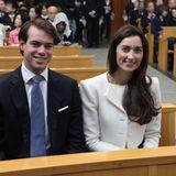 November 2013  Seltener Auftritt im Ausland: Prinz Félix und Prinzessin Claire nehmen in Tokio an den Feierlichkeiten zum 100. Jahrestag der Gründung der Universität teil.