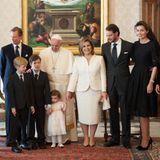21. März 2016  Großherzog Henri ist mit seiner Familie, darunter Prinz Félix und Prinzessin Claire, im Vatikan zu einer Audienz bei Papst Franziskus. Die kleine Amalia ist mit von der Partie.