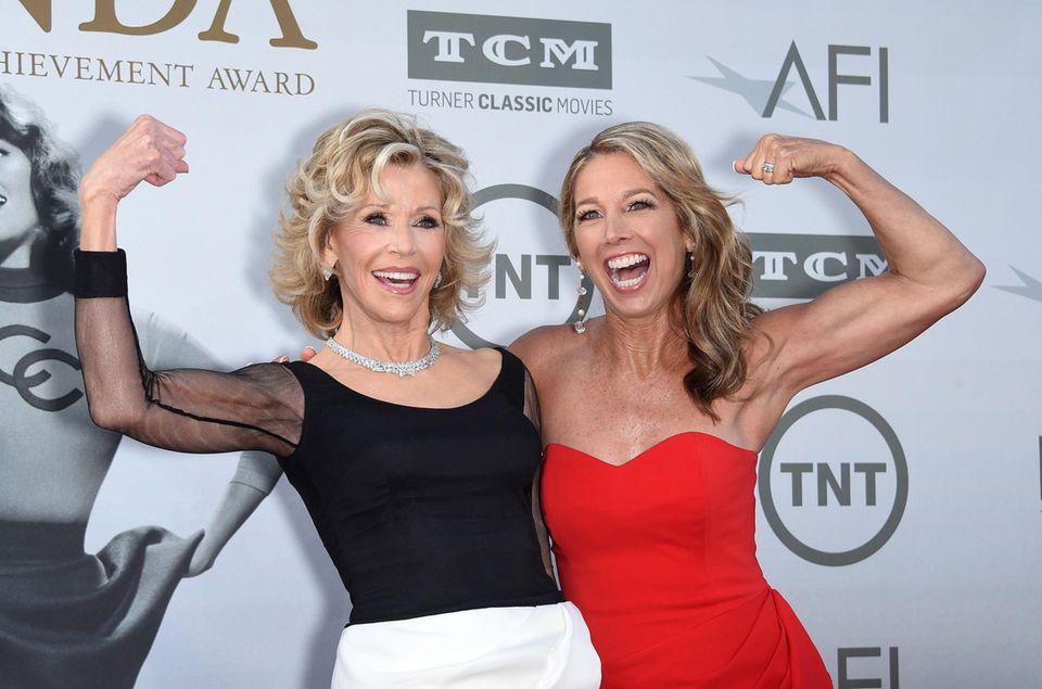 Jane Fonda und Denise Austin