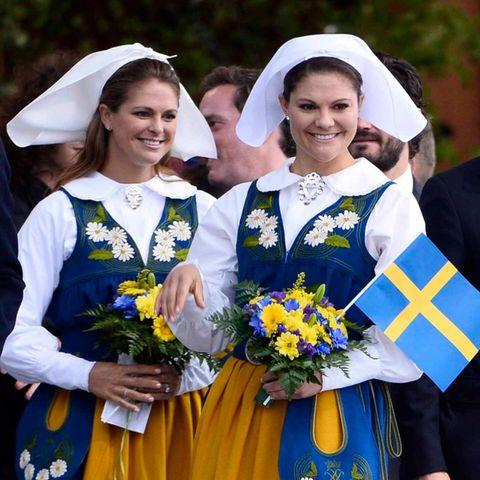 Die schwedische Königsfamilie feiert den Nationalfeiertag.