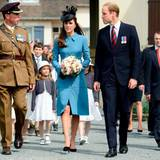 Prinz William und Herzogin Catherine treffen in Arromanches ein. Auch sie nehmen an den D-Day-Feierlichkeiten teil, zu denen schon die anderen Mitglieder der königlichen Familie nach Frankreich gereist sind.