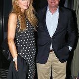 Paris Hilton trifft sich mit ihrem Vater Rick zum Dinner.