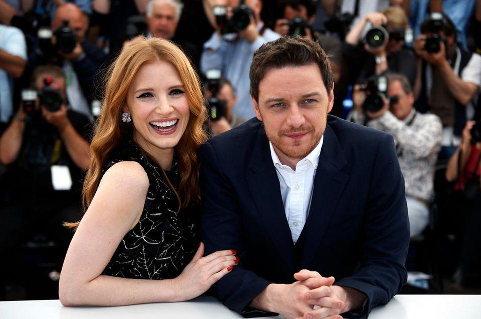 """Jessica Chastain und James McAvoy stellen ihren Film """"The Disappearance Of Eleanor Rigby"""" vor."""