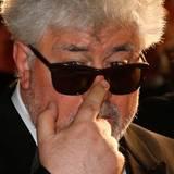 Regisseur Pedro Almodóvar rückt seine Sonnenbrille zurecht.