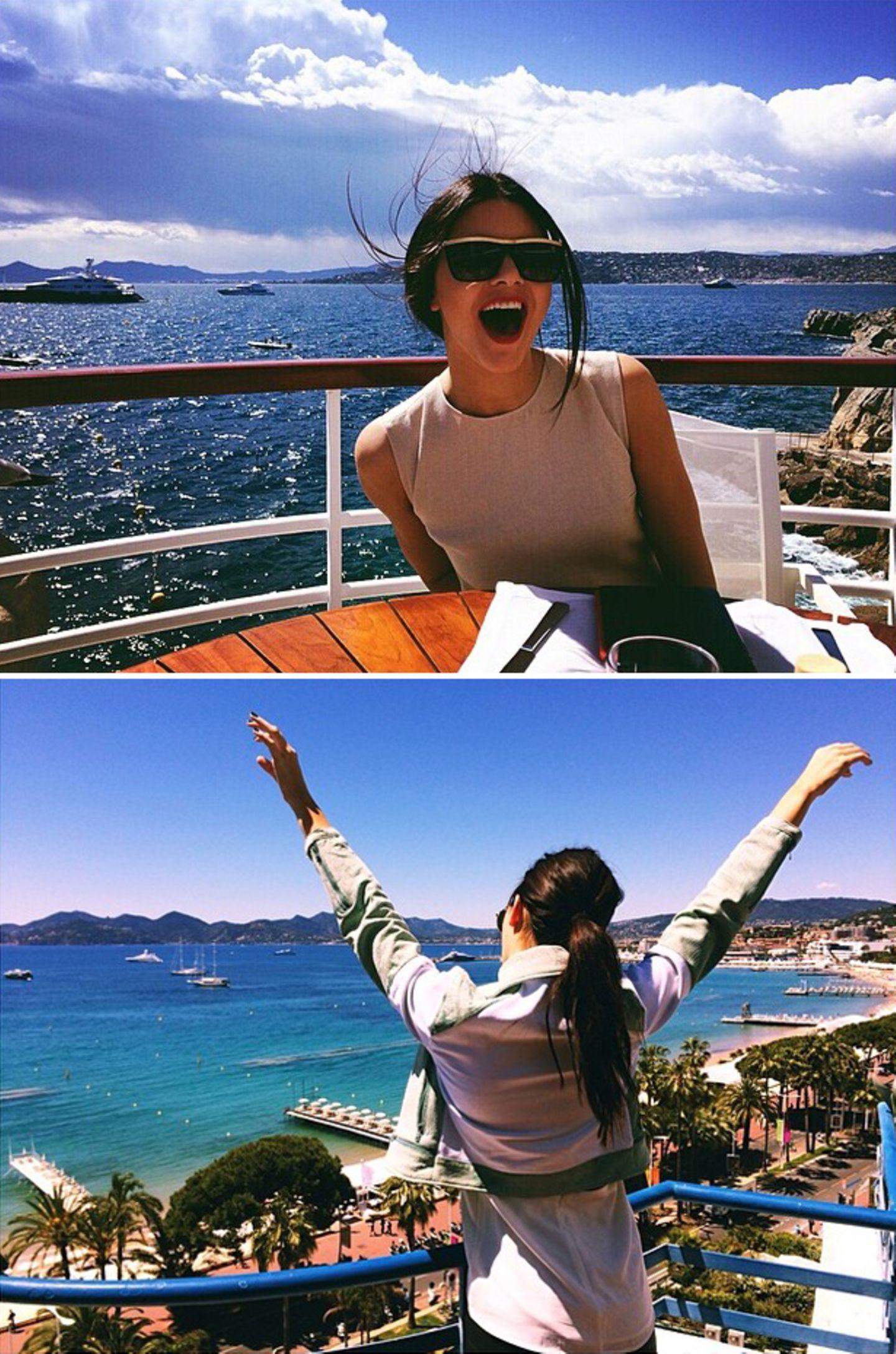 Kendell Jenner freut sich in Cannes dabei zu sein.