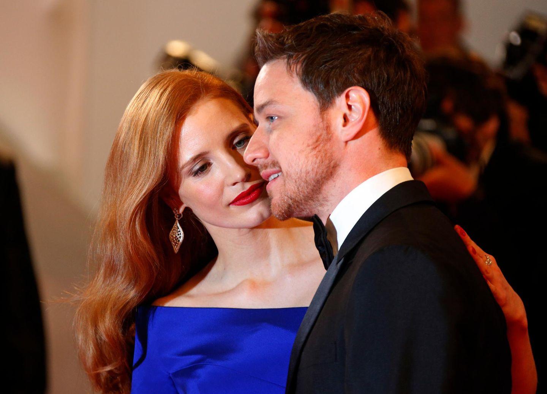 """Jessica Chastain und James McAvoy sind zur Premiere von """"The Disappearance Of Eleanor Rigby"""" gekommen."""