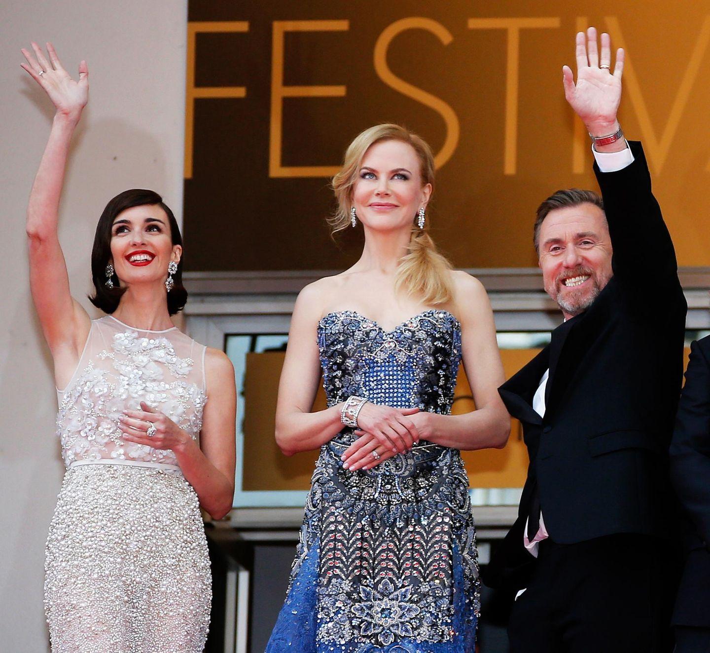 """Die Stars des Abends: Die Schauspieler Paz Vega, Nicole Kidman und Tim Roth präsentieren ihren Film """"Grace of Monaco""""."""