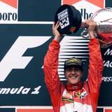 August 1998  Michael Schumacher ist siebenfacher Formel 1-Weltmeister und hat weltweit mehr als 90 Grand Prix gewonnen.