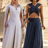 """Die britische Schauspielerin Nathalie Emmanuel spielt seit der dritten """"Game of Thrones""""-Staffel die schöne Sklavin """"Missandei"""", hier an der Seite von Emilia Clarke als """"Daenerys""""."""