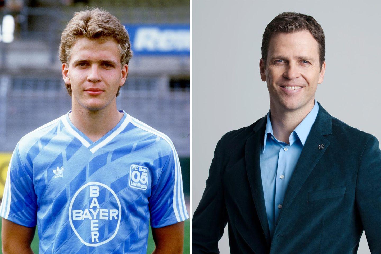 Manager Oliver Bierhoff  1986 im Alter von 18 Jahren und 2014 mit 46