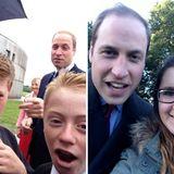 Wie selbstverständlich steigt Prinz William in den Selfie-Hype mit ein.