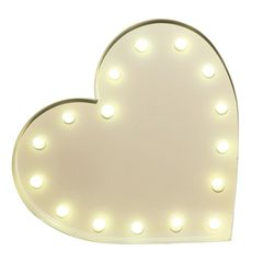 "Strahlendes Herz: Deko-Lampe ""Heart by Vegas Lights"" (Westwingnow, 31 cm hoch, ca. 80 Euro)"