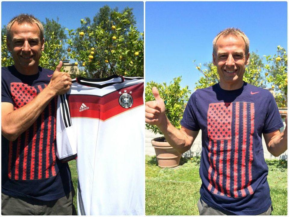 Jürgen Klinsmann drückt Jogi und seiner Elf für das WM-Finale die Daumen.