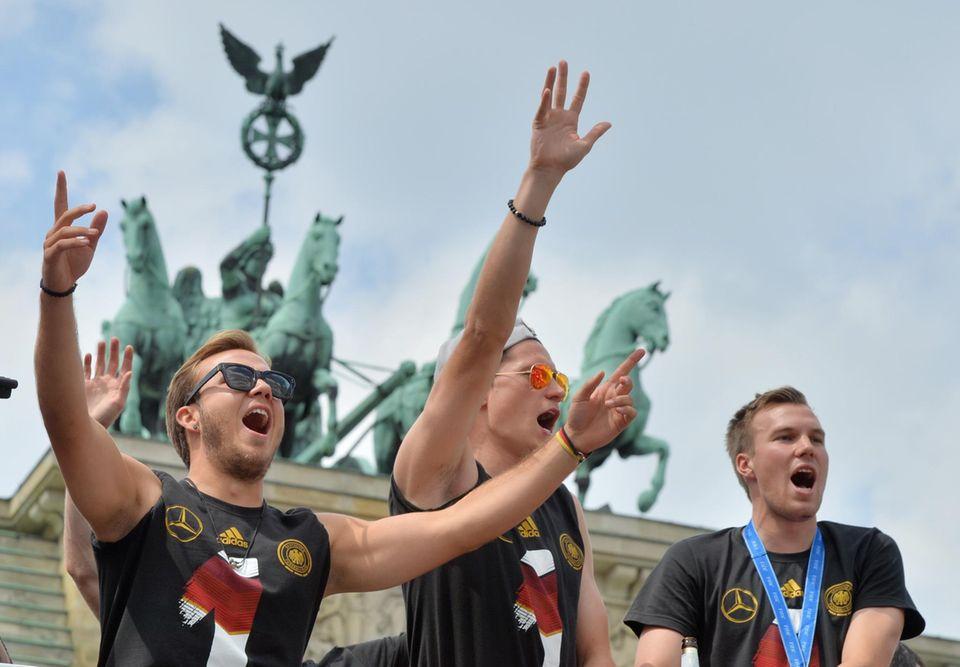 Mario Götze, Julian Draxler und Kevin Großkreutz