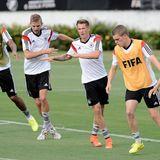 Das deutsche Team beim Abschlusstraining