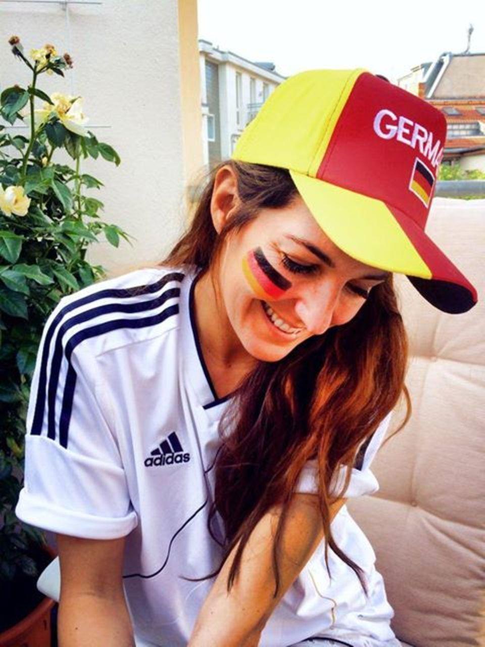 Bekennender Fan der deutschen Mannschaft: Johanna Klum