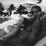 Boateng genießt einen Tag mit seiner Verlobten Sherin.