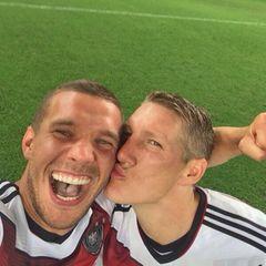 Weltmeister-Selfie von Poldi und Schweini