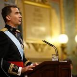 Felipe von Spanien hält seine erste Rede als König.