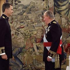 Die Zeremonie im Zarzuela Palast beginnt.