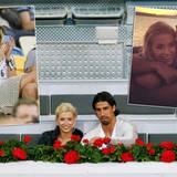 Mai 2011  Lena Gercke und der Fußballer Sami Khedira zeigen sich zum ersten Mal bei einem Tennisturnier in Madrid (u.) zusammen in der Öffentlichkeit. Seitdem sind die beiden unzertrennlich: Im gemeinsamen Urlaub zeigen sie sich verliebt beim Sonnenuntergang (r.) und bei der EM 2012 feuert Lena ihren Sami von der Tribüne aus an (l.).