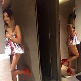 Ciao Bella! Verona Pooth macht sich für die Fashion-Show von Elisabetta Franchi in Mailand hübsch und zeigt mit diesem Facebook-Post aus dem Hotelbadezimmer, was für eine Traumfigur und wohlgeformten Po sie mit ihren 47(!) Jahren noch hat! Respekt!